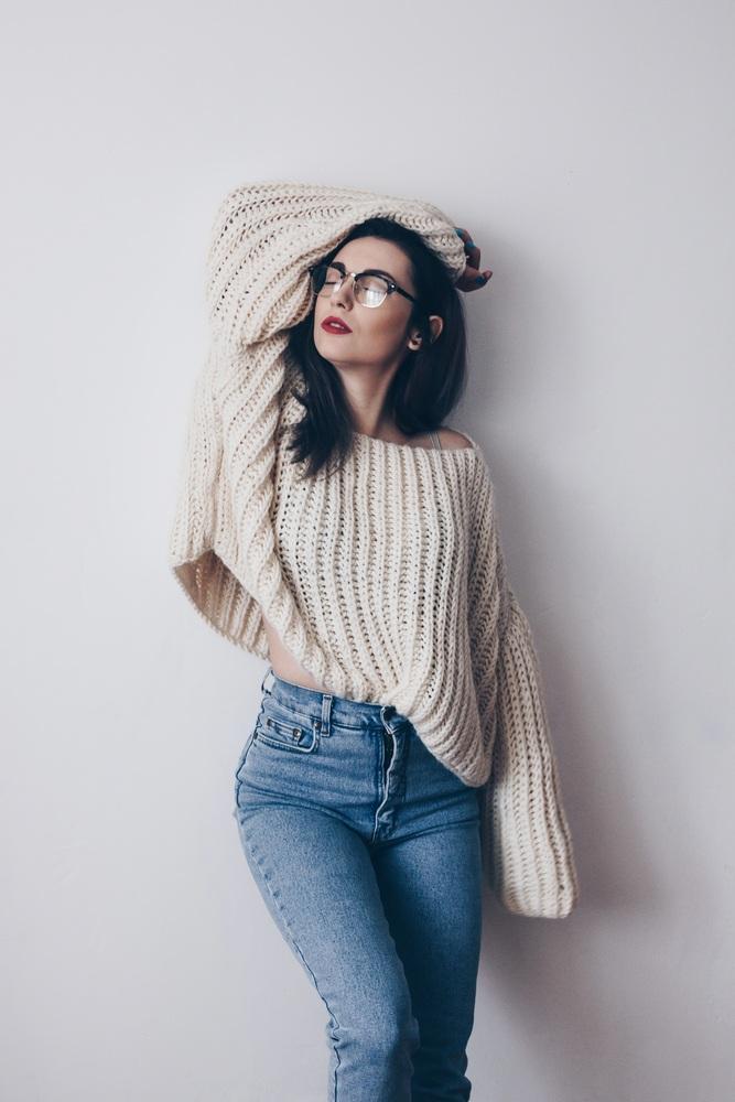 áo len Oversized