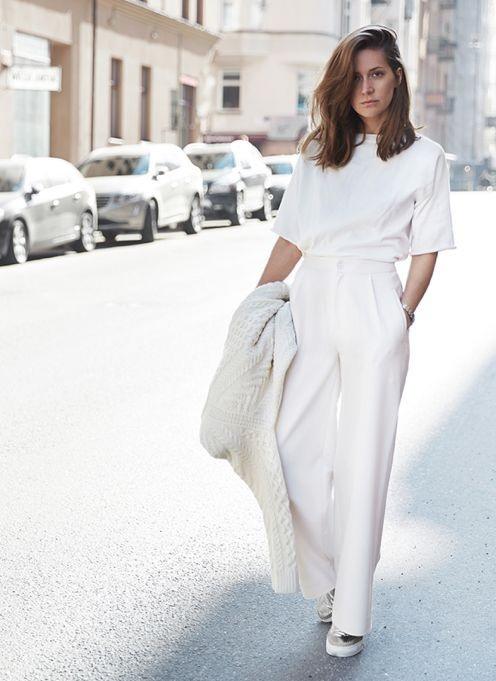 thời trang màu trắng